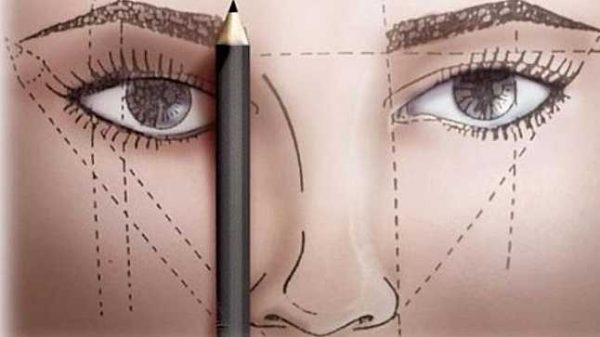 Проверка симметрии карандашом