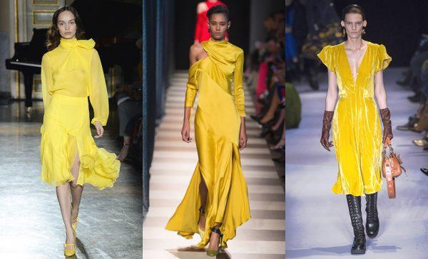 Желтый цвет - тренд 2018 года
