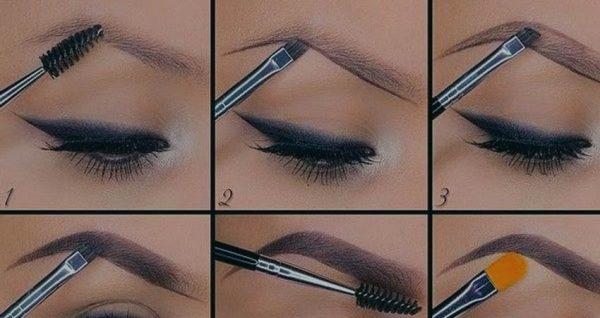 Как рисовать брови