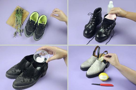 Как убрать запах с обуви
