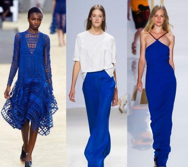 Оттенки синего и голубого в одежде