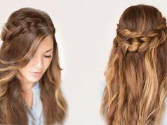 Прически на длинные волосы без челки на каждый день своими руками фото 954