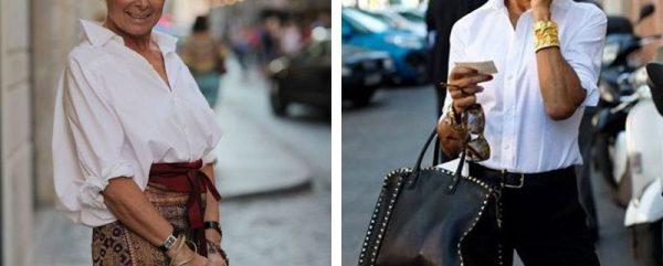 Модные образы с белой блузой