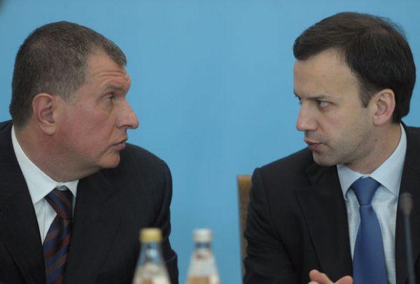 Игорь Сечин и Аркадий Дворкович