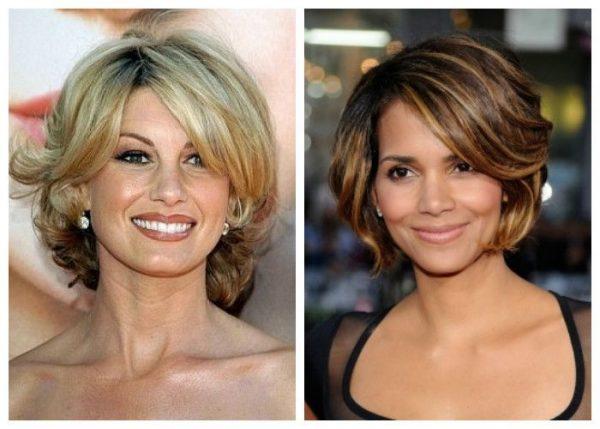 Объемная стрижка на средние волосы