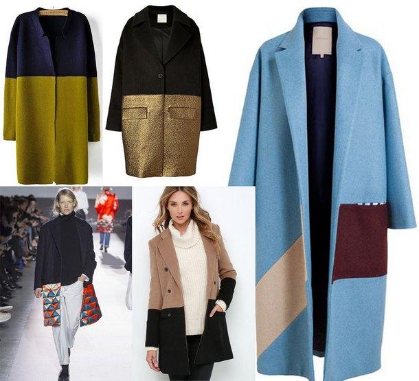 Разноцветные модели пальто