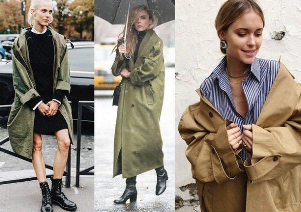 Модные пальто в военном стиле