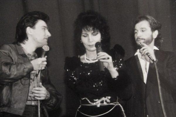 На сцене с Игорем Тальковым и Джуной