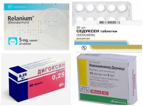 Препараты для устранения тахикардии