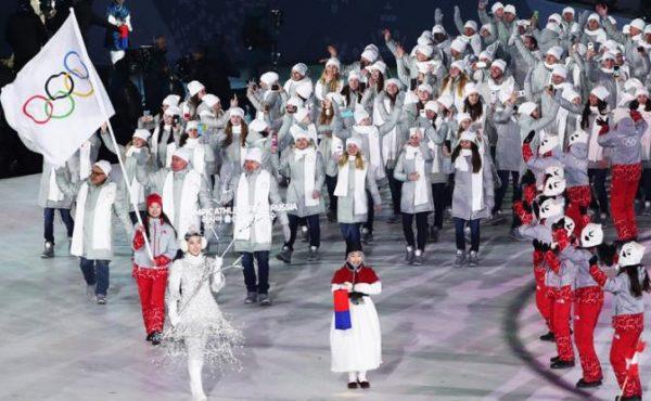 Российским спортсменам было запрещено нести флаг страны на открытии Олимпиады 2018