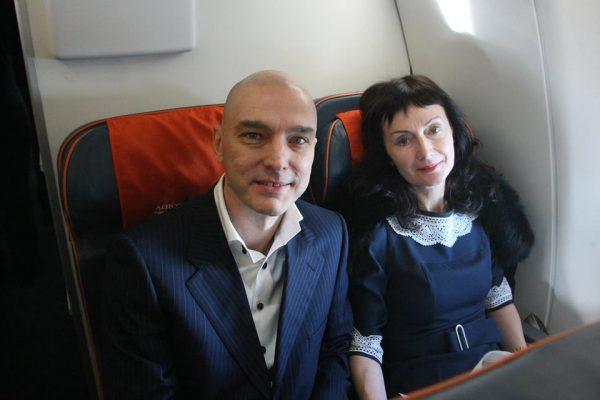 Андрей Державин со своей женой