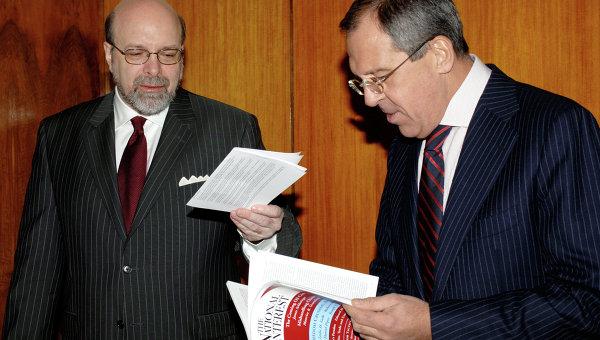 Дмитрий Саймс на встрече с Лавровым