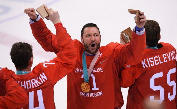 Известный спортсмен на Олимпийских играх в Пхенчане