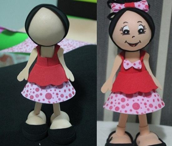 Кукла из фоамарина