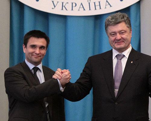 С президентом Украина Петром Порошенко
