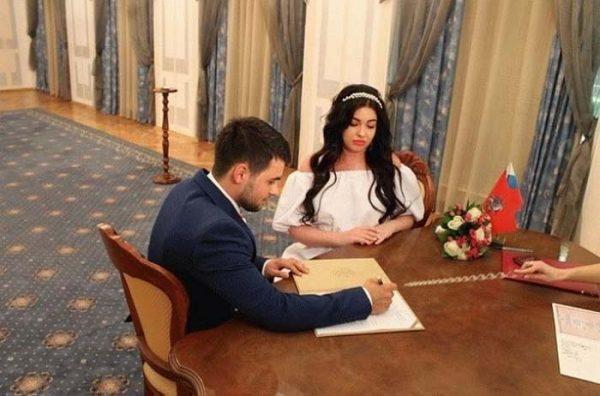 Свадебное фото Елены и ее мужа Владимира