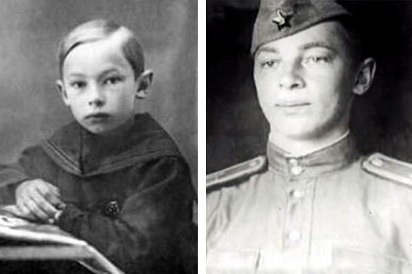 Александр Зацепин в детстве и в молодости