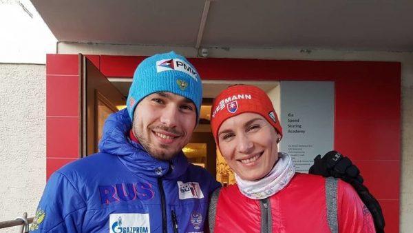 Анастасия Кузьмина со своим братом Антоном Шипулиным
