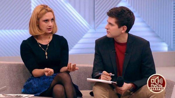 """С телеведущим Дмитрием Борисовым в программе """"Пусть говорят"""""""