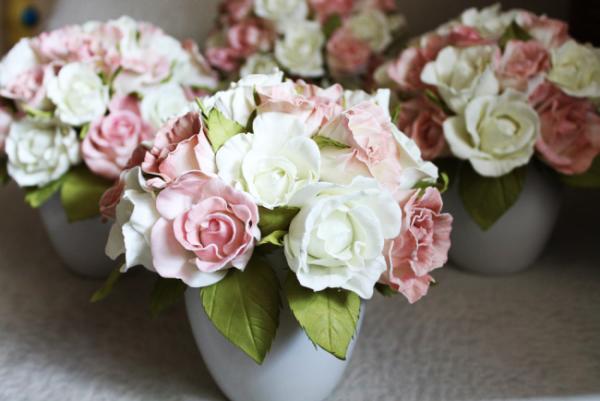 Букет роз из фоамарина