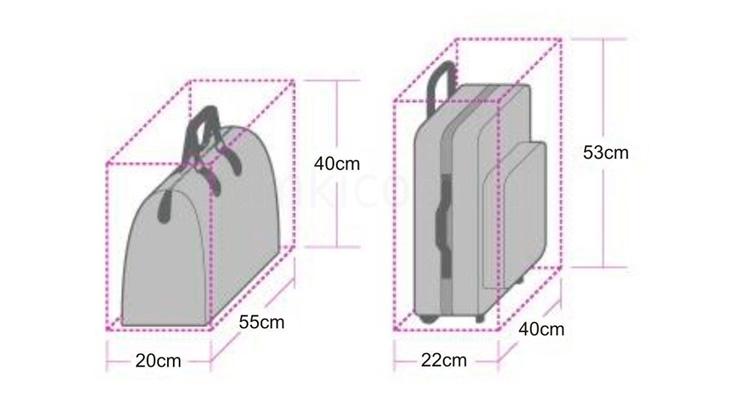 Каким должен быть размер ручной клади
