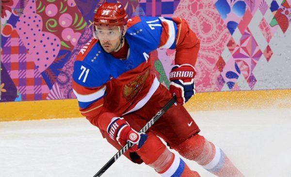 И. Ковальчук в составе сборной России на Олимпиаде в Сочи