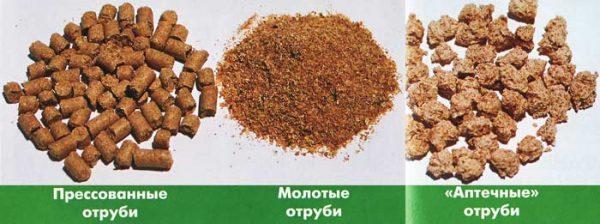 Разновидности кукурузных отрубей
