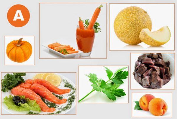 Витамин А содержится в большом количестве в таких продуктах