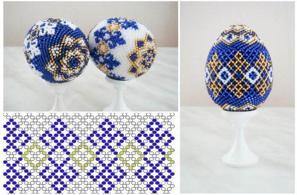 Схема плетения пасхального яйца из бисера