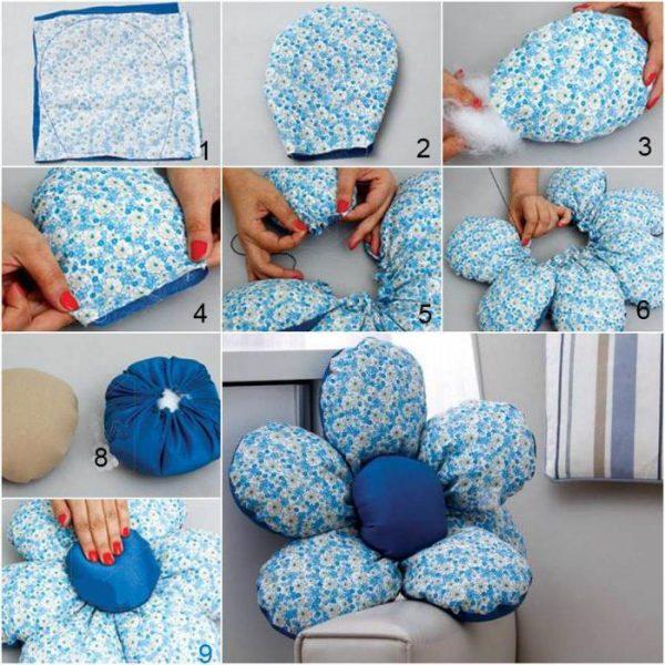 Как сделать подушку в виде цветка пошаговая инструкция