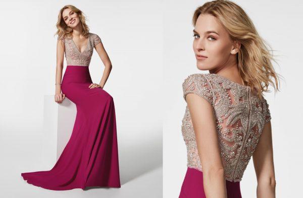 Модное платье с кружевной спиной