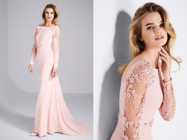 Модное платье розовых тонов