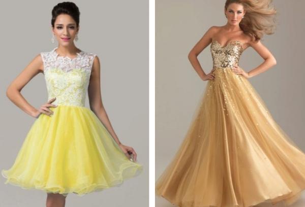 Варианты модных платьев на выпускноц