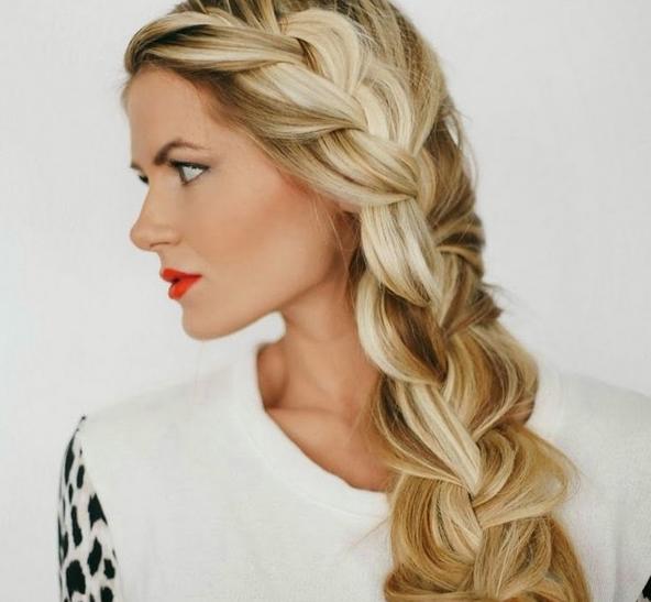 Модная объемная коса