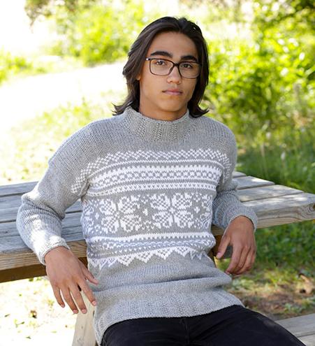 Классический жаккардовый свитер
