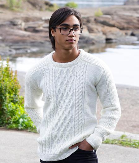 Модный свитер с узорами