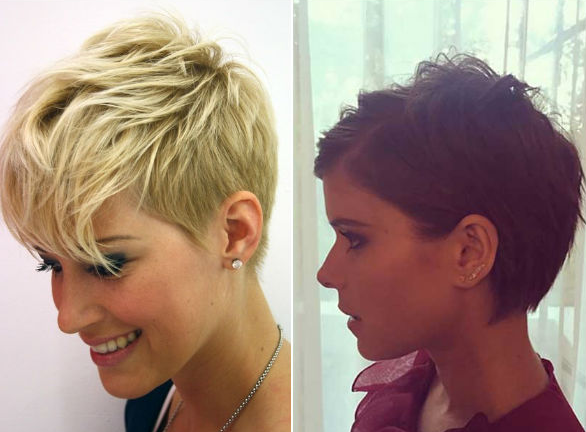 Стрижка пикси на короткие волосы 2018: вид спереди и сзади, фото