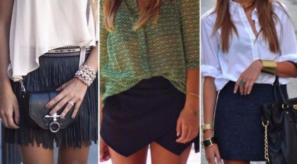 Модная юбка-шорты