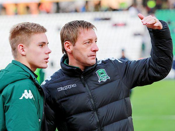 Андрей Тихонов с сыном Михаилом