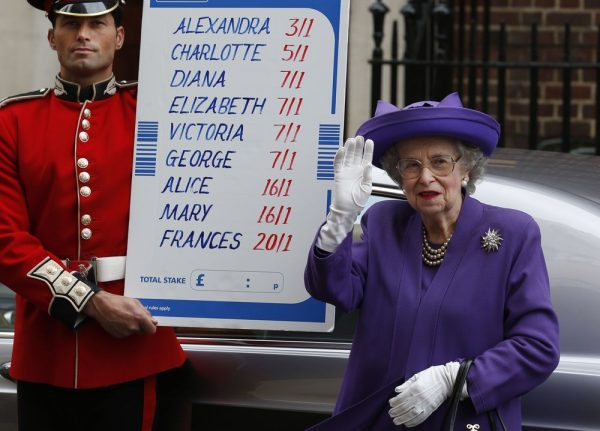Многие люди в Англии делаю ставки на имя новорожденного наследника