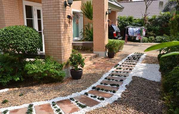 Декоративные дорожки в саду