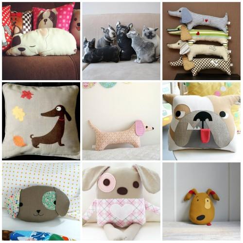 Варианты декоративных подушек в виде животных