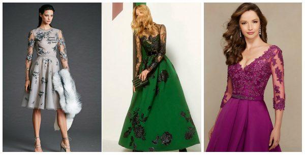 Платья с декором из цветов