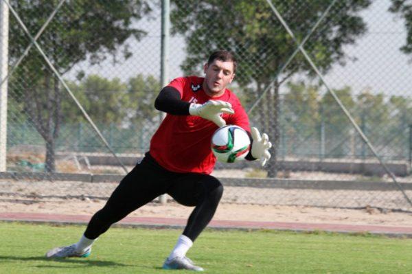 Известный футболист на тренировке