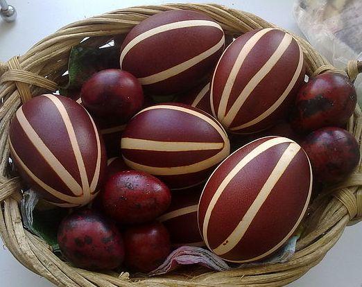 Как сделать полоски на яйцах