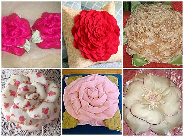 Подушки в виде цветов