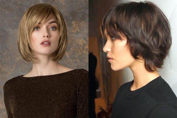 Стрижка каскад на короткие волосы: вид спереди и сзади, фото