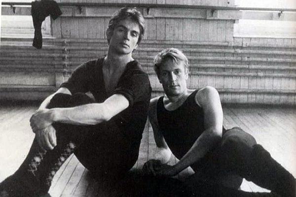 С датским танцовщиком Эриком Бруном