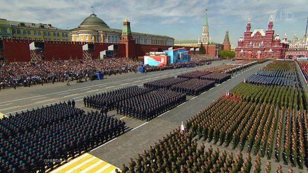 Парад победы на Красной площади приуроченный к 9 мая