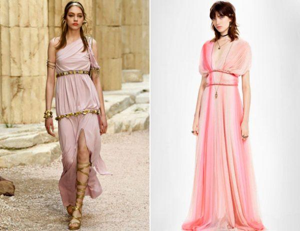 Модные платья в греческом стиле